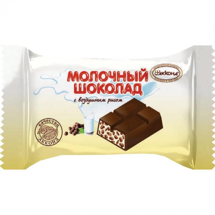 «Шоколад молочный» с воздушным рисом