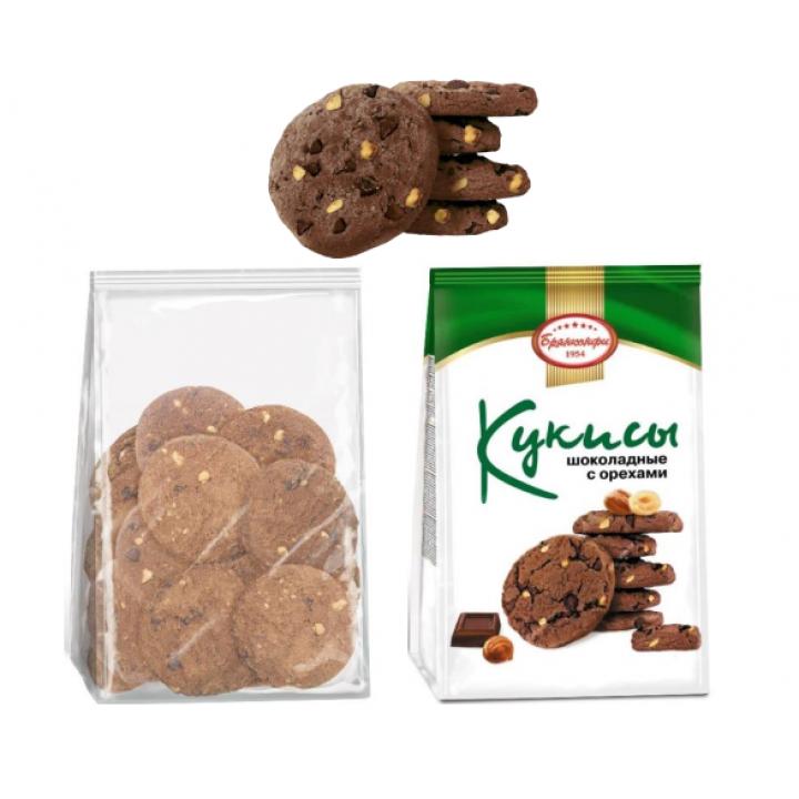 Печенье Кукисы шоколадными с орехами Брянконфи