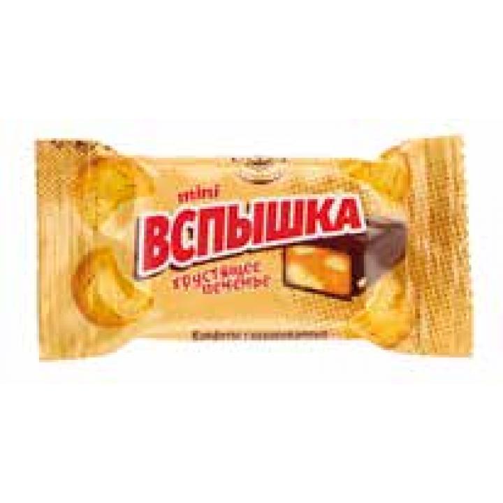 Конфеты Вспышка mini карамель с печеньем Невский кондитер